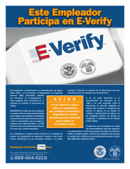 EVerify Poster - Spanish version