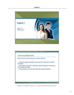 English 3 Learning Objectives