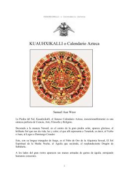 El Calendario Azteca - Los GNOSTICOS o GNOSIS