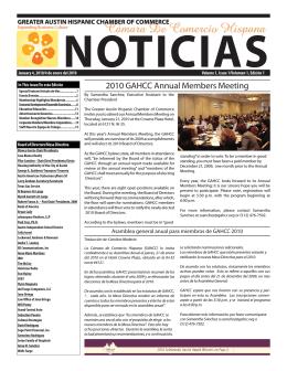 - Greater Austin Hispanic Chamber of Commerce