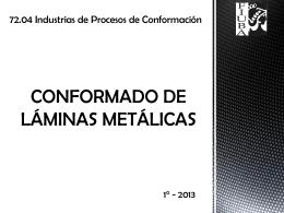 Procesos de Conformado de láminas metálicas