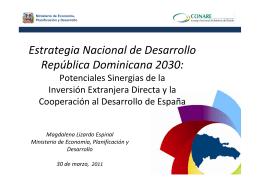 Estrategia Nacional de Desarrollo República Dominicana 2030