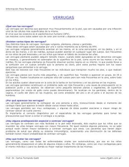 VERRUGAS - Dr. Carlos Fernando Gatti