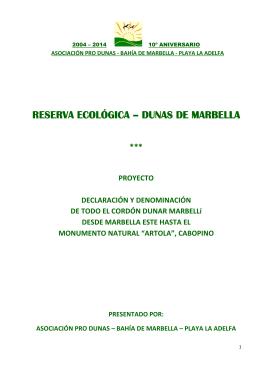 reserva ecológica - dunas de marbella