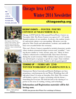 Chicago Area AATSP Winter 2014 Newsletter