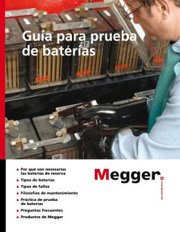 Guía para prueba de baterías