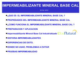 propiedades del impermeabilizante mineral base cal