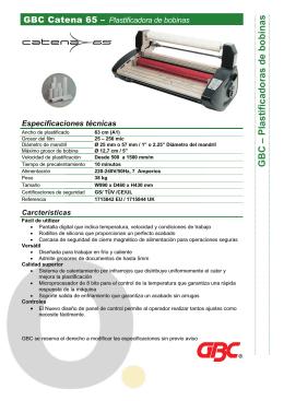 Plastificadora GBC Catena 65
