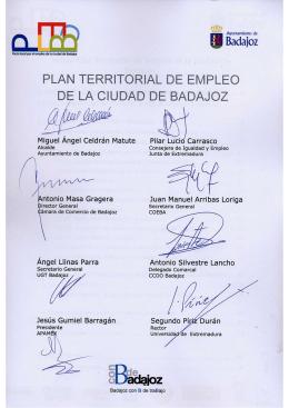 Plan Territorial de Empleo Ciudad de Badajoz