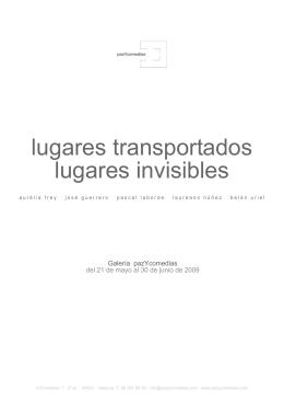 PDF lugares transportados lugares invisibles