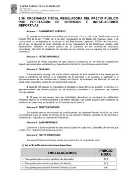 2.30. ordenanza fiscal reguladora del precio público por prestación