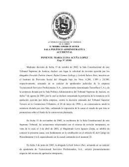 Sentencia Cobro del IVA por los Servicios profesionales fecha 27/10
