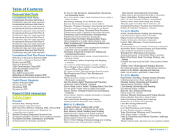 Table of Contents - Parents as Teachers