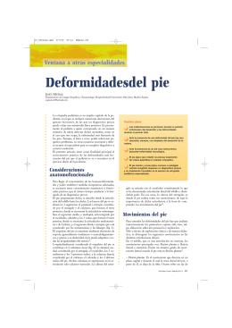 Deformidades del Pie - Anales de Pediatría Continuada