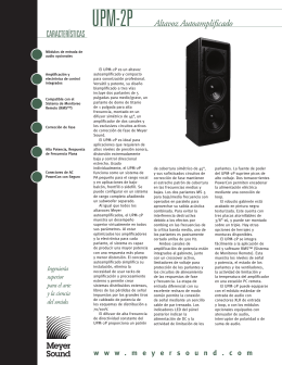 UPM-2P Altavoz Autoamplificado CARACTERÍSTICAS