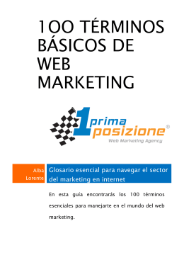 1oo términos básicos de web marketing