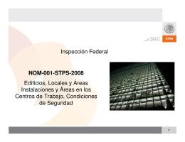 NOM-001-STPS-2008 - Secretaría del Trabajo y Previsión Social