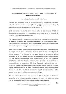 PRESENTACIÓN DEL LIBRO NOPAL FORRAJERO