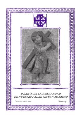 boletín-31 (2012) - Hermandad de Nuestro Padre Jesús Nazareno