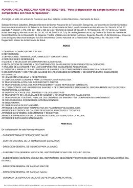 NORMA OFICIAL MEXICANA NOM-003-SSA2-1993