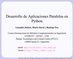 Desarrollo de Aplicaciones Paralelas en Python
