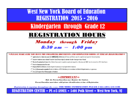 West New York Board of Education REGISTRATION 2015