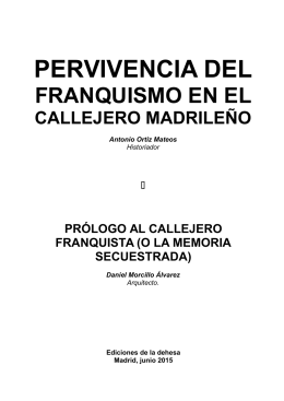 Callejero franquista - Federación regional de asociaciones de