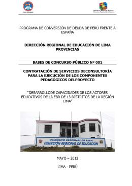 Peru.Bases componente pedagogico DRE LIMA