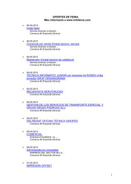 OFERTES DE FEINA - Web oficial de l`Ajuntament de Vila