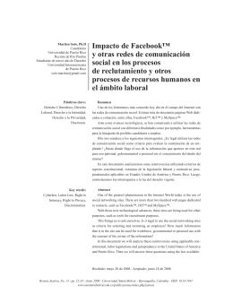 Impacto de Facebook™ y otras redes de comunicación social en los