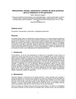 Relevamiento, estudio, clasificación y análisis de obras
