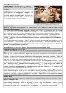 Historia del Arte. Comentarios. 1.-IDENTIFICACION: Título, autor