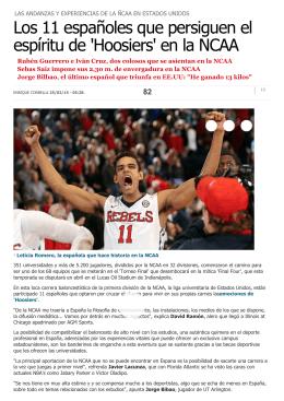 Los 11 españoles que persiguen el espíritu de `Hoosiers` en la NCAA