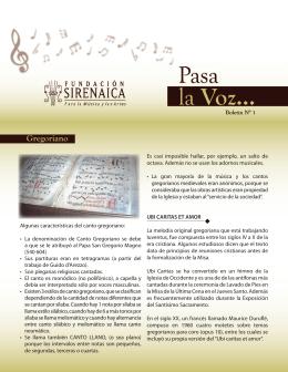 Gregoriano - Fundación Sirenaica