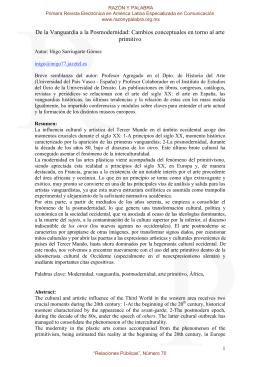 De la Vanguardia a la Posmodernidad: Cambios