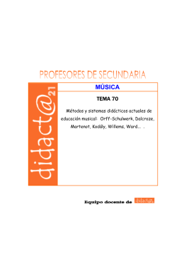 MÚSICA - Didacta21