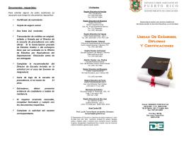 Unidad De Exámenes, Diplomas Y Certificaciones