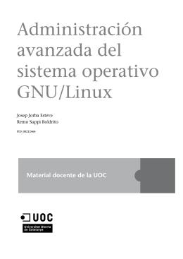 Administración avanzada del sistema operativo