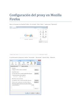 Configuración del proxy en Mozilla Firefox