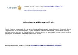 Cómo instalar el Navegador Firefox