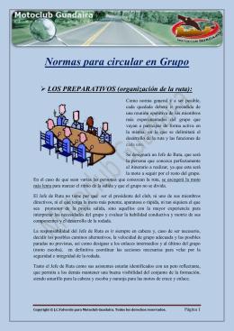 Normas para circular en Grupo