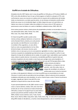 Graffiti en el estado de Chihuahua.