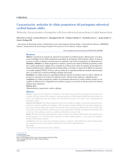 Caracterización molecular de células progenitoras del