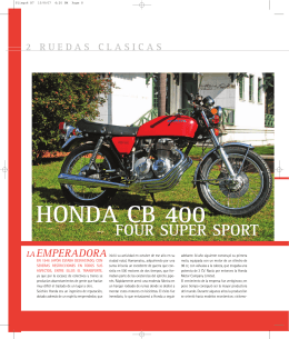 HONDA CB 400 - Ruedas Clásicas