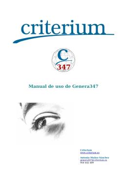 Manual de uso de Genera347