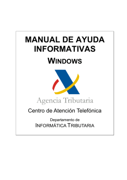 Manual de ayuda Informativas 2011 en Windows