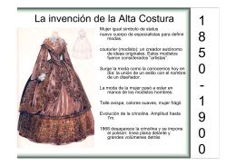 La invención de la Alta Costura