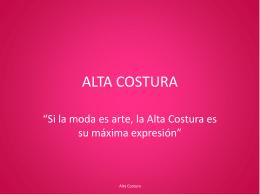 ALTA COSTURA