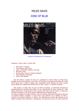 "Otras músicas - Miles Davis ""Kind of blue"""