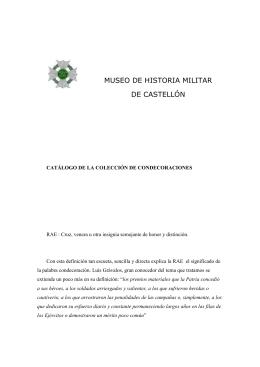coleccion de condecoraciones - Aula Militar Bermúdez de Castro